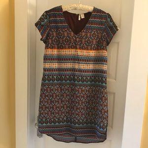 Casual batik mini dress